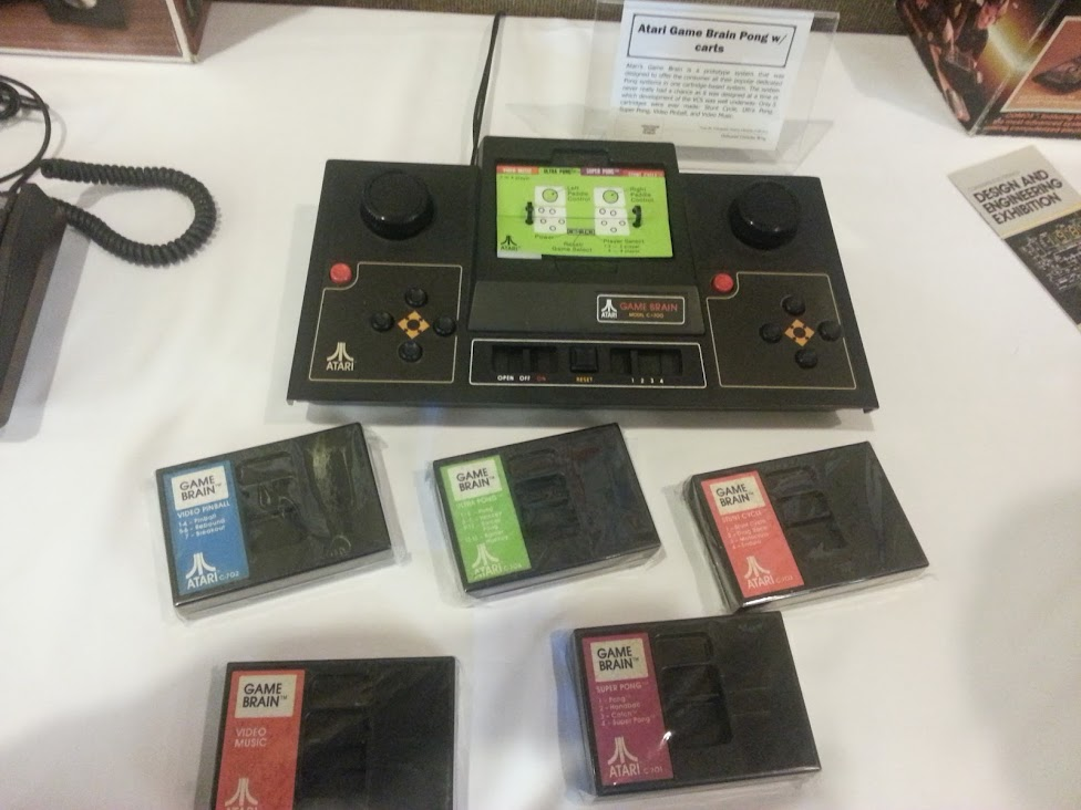 Atari Game Brain Pong and Cartridges
