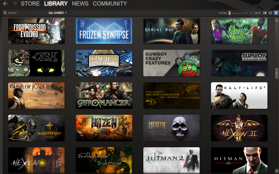Steam Library View