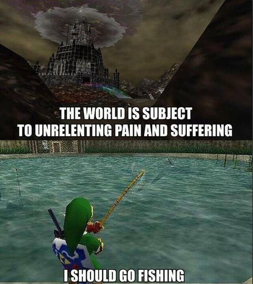zelda ocarina Of time I should Go fishing pain And suffering link 13561164949